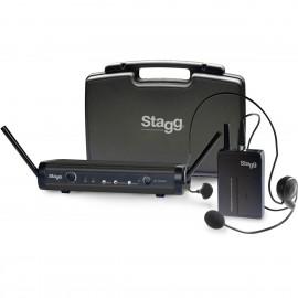 Stagg SUW-30-HSS-A - nagłowny system bezprzewodowy UHF