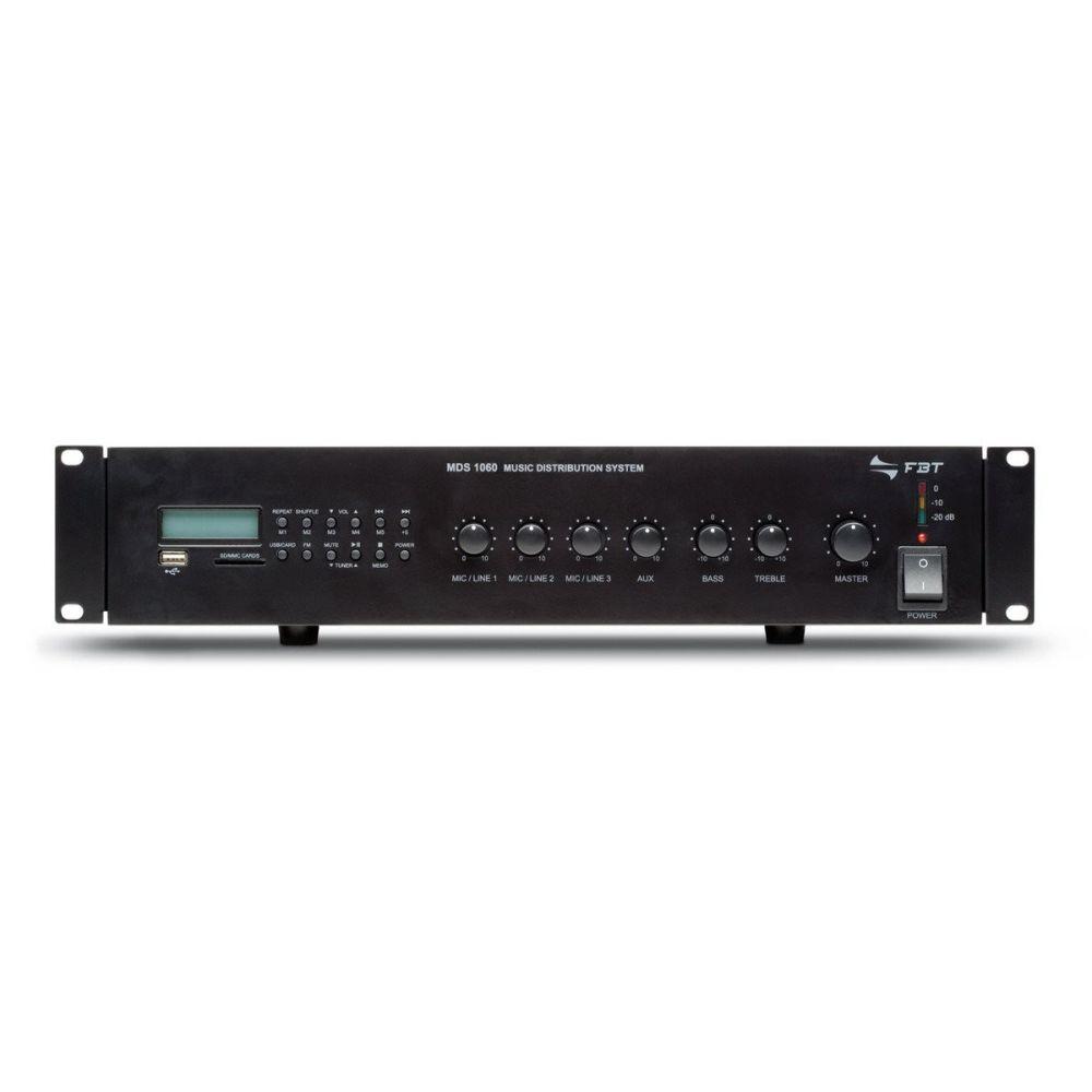 FBT MDS-1120 - wzmacniacz mocy linii 100V z odtwarzaczem MP3
