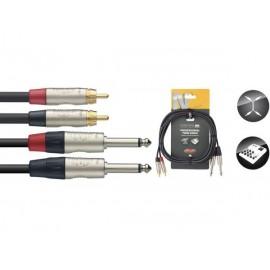 Stagg NTC3PCMR - podwójny kabel połączeniowy 3m
